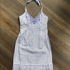 Vineyard Vines Striped halter dress